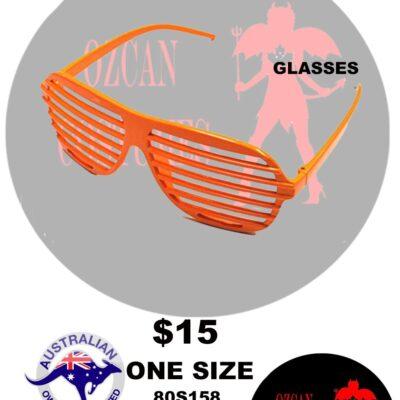 80S SLOT GLASSES NEON ORANGE OS