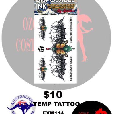 TEMP TATT MONARCH