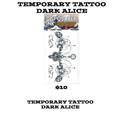 TEMP TATT DARK ALICE