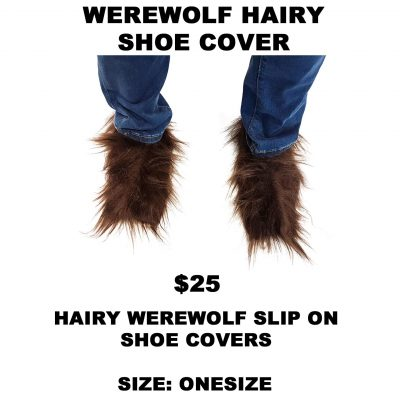 WEREWOLF HAIRY FOOT COVERS