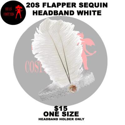 20S FLAPPER HEADBAND WHITE