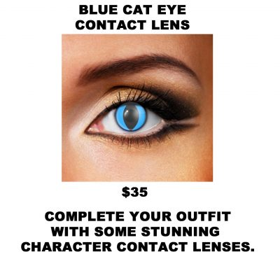 BLUE CAT EYE CONTACT LENS