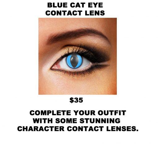 BLUE CAT EYE CONTACT LENS