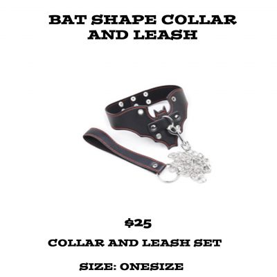 BAT SHAPE COLLAR AND LEASH