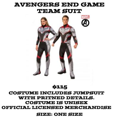 AVENGERS END GAME TEAM SUIT