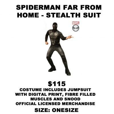 SPIDERMAN FFH STEALTH SUIT OS