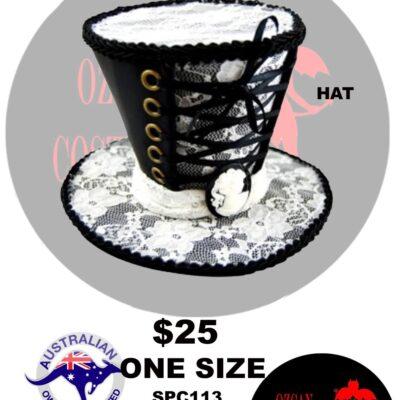 STEAMPUNK MINI TOPHAT WHITE