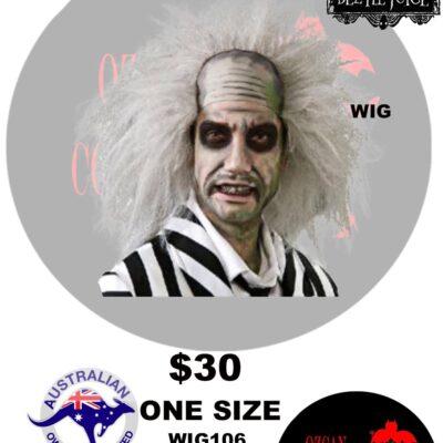 BEETLEJUICE CHARACTER WIG