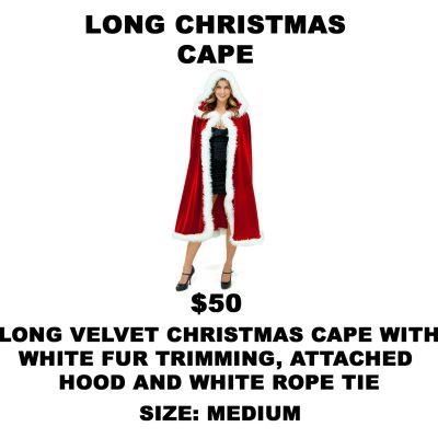 LONG CHRISTMAS CAPE M